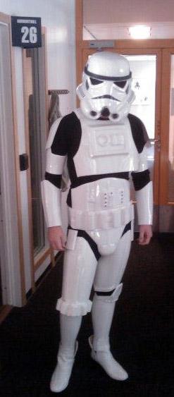 Rune i Stormtrooper-kostyme. (Foto: Privat)