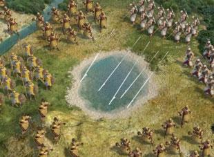 Bueskyttere i Civilization V kan skyte over flere felt.