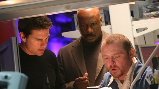 Tom Cruise, Ving Rhames og Simon Pegg i Mission: Impossible III. (Foto: United International Pictures)