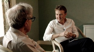 Skavlan og Allen. (Foto: NRK / Monkberry)