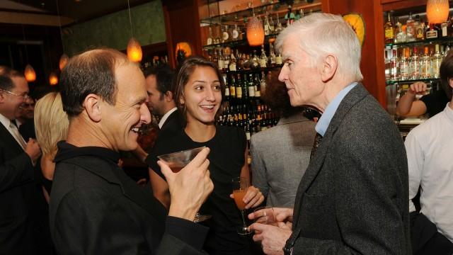 Inside Job: Regissør Charles Ferguson, produsent Audrey Vera og økonomihistoriker Charles Morris. (Foto: Stephen Lovekin/Getty Images)