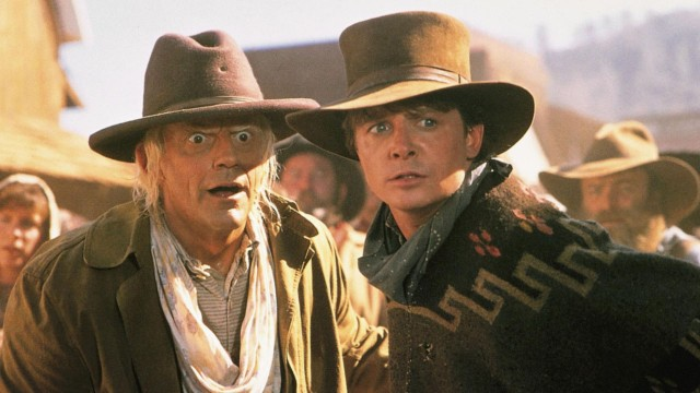 Doc og Marty som westernhelter i Back To The Future III. (Foto: Universal)