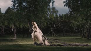 Kirsten Dunst i Melancholia (Foto: Christian Geisnæs/Zentropa).