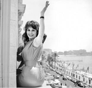 Sophia Loren i Cannes 1959. (Arkivfoto)