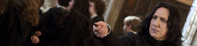 Alan Rickman spiller Severus Slur som ingen andre. (Harry Potter Publishing Rights © J.K.R. - Harry Potter characters, names and related indicia are trademarks of and © Warner Bros. Ent.  All Rights Reserved.)