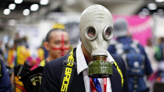 Det lukter mye svette på Comic-Con 2011. (Foto: REUTERS/Mike Blake)
