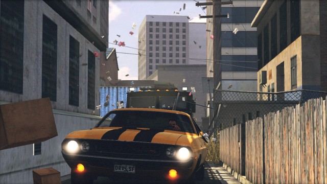 John Tanner jages gjennom smug i Driver: San Francisco (Foto: Ubisoft).