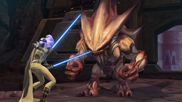 Sorry herr Terentatek, men Jedienes moral og etikk gjelder bare for valper og kattunger. (Foto: EA)