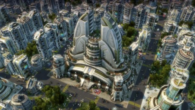 Byene i Anno 2070 yrer av liv. (Foto: Ubisoft)