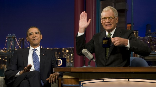 David Letterman og president Barack Obama. (Foto: AFP/Jim Watson)