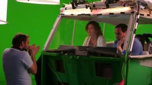 André Øvredal instruerer Siri Helene Müller og Kyrre Haugen Sydness (Foto: Remi Myhr Horgar/NRK).