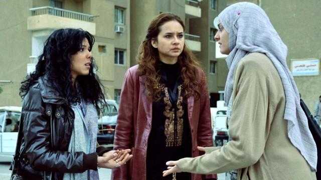Nahed El Sebai, Nelly Karim og Boshra i 678 Kairo (Foto: Arthaus).