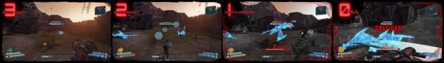 «Many must fall» – ei av dei mest ekstreme angrepa til snikmordaren (Bilete: Gearbox Software).
