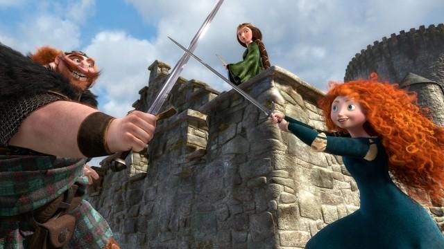 Kong Fergus, Dronning Elinor og Merida i Modig (Foto: The Walt Disney Company Nordic).