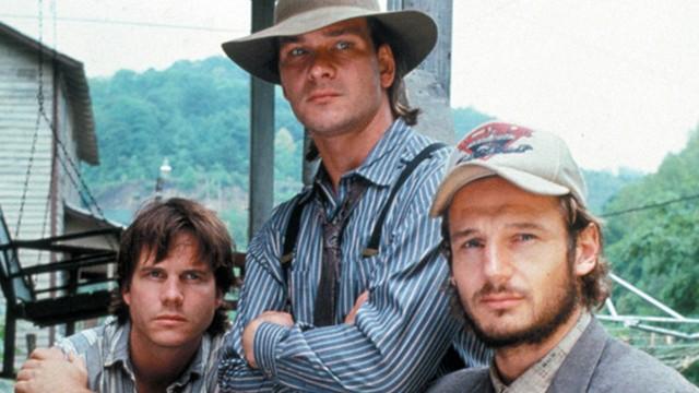 Bill Paxton, Patrick Swayze og Liam Neeson spiller brødrene Gates i Next Of Kin (Foto: Warner Bros. Entertainment).