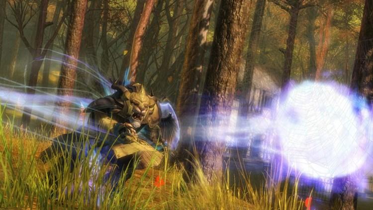 Skjermbilde fra «Guild Wars 2» - her er yrket «Guardian» i aksjon. (Foto: NCsoft)