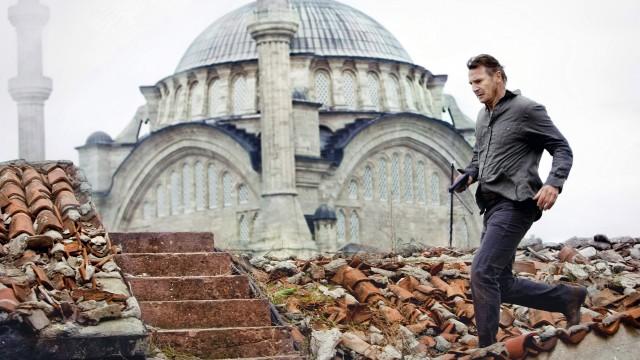 Liam Neeson på sighseeing i Istanbul i Taken 2 (Foto: Scanbox).