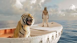 Suraj Sharma og en tiger i Historien om Pi (Foto: 20th Century Fox).