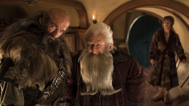 Graham McTavish, Ken Stott og Martin Freeman i Hobbiten: En uventet reise (Foto: Metro-Goldwyn-Mayer Pictures Inc. og New Line Productions, Inc./ Foto: James Fisher).