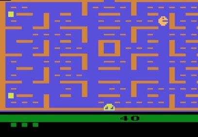 Skjermbilde fra «Pac Man». (Foto: Atari)