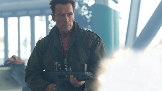 Arnold Schwarzenegger i Expendables 2. (Foto: Norsk Filmdistribusjon).