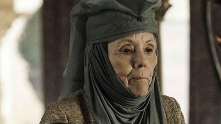 Diana Rigg som Lady Olenna Redwyne i Game of Thrones. (Foto: Helen Sloan, HBO).