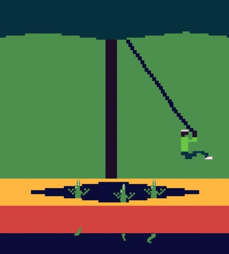 Skjermbilde fra «Pitfall». (Foto: Atari)
