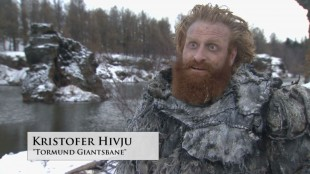 Kristofer Hivju i den siste behind the scenes-videoen fra Game of Thrones. (Foto: Skjermdump, HBO).