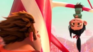 Rolf møter Vanellope i filmen Rive-Rolf (Foto: The Walt Disney Company Nordic).