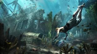 Ferske skjermbilder viser at spillfigurene også kan svømme under vann i Båter ble først introdusert i «Assassin's Creed 3», og vil være viktig i neste utgave av spillserien. Skjermbilde fra «Assassin's Creed 4». (Foto: Ubisoft)