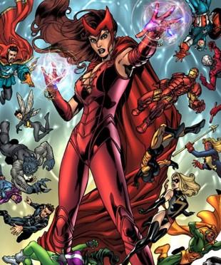 Slik ser Scarlet Witch aka Wanda ut . (Foto: Marvel Comics).