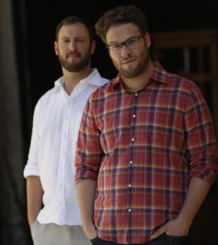 Rogen og Goldberg promoterer for tida «This is The End», ein postapokalyptisk komedie som får norsk premiere i september. Foto: REUTERS/Mario Anzuoni