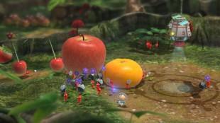I strategipuslespillet «Pikmin 3» styrer du små skapninger rundt i et hagelignende landskap. (Foto: Nintendo)