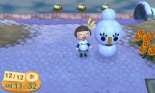 Årstidene i spillet følger den virkelige verdenen, og dermed kan det ta et helt år før du opplever alle værtyper i «Animal Crossing: New Leaf». (Foto: Nintendo)