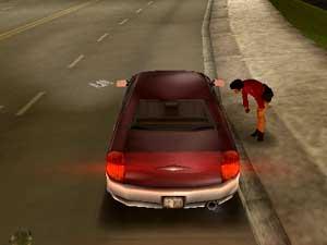 Spillere kunne, om de selv valgte, plukke opp prostituerte i «GTA 3» fra 2001. (Foto: DMA Design / Rockstar)