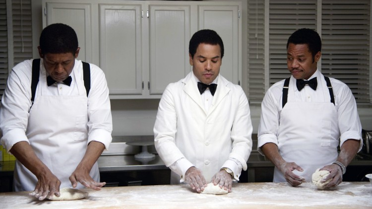 Forest Whitaker, Lenny Kravitz og Cuba Gooding Jr. i The Butler (Foto: Scanbox).