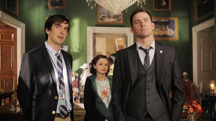 Nic Wright, Joey King og Channing Tatum i White House Down (Foto: United International Pictures).