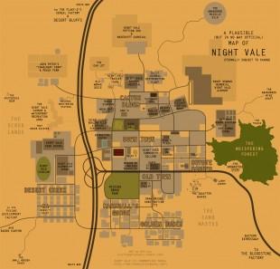 Fullstendig uoffisielt kart over Night Vale. (Foto: Melissa Daltons Tumblr)