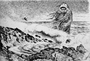 Theodor Kittelsens «Sjøtrollet», inspirert av norske myter. (Bilde: Theodor Kittelsen, public domain)