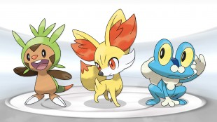 I «Pokémon X» kan du helt i starten velge mellom Chespin, Fennekin og Froakie. (Foto: Nintendo)