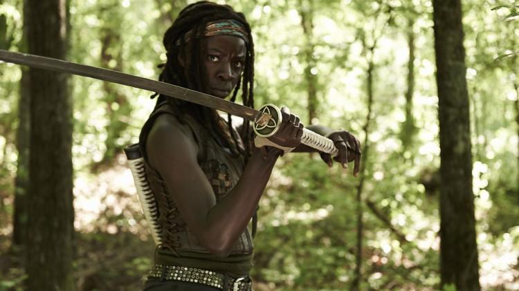 Vi kommer tettere innpå Michone i fjerde sesong av The Walking Dead. (Foto: AMC, FOX Norge).