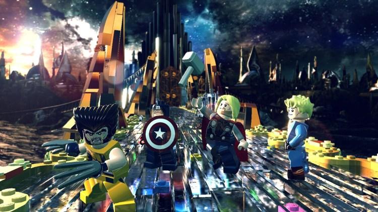 Åsgard er en av arenaene i LEGO Marvel Super Heroes (Foto: Warner Bros. Interactive Entertainment).
