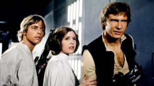 Mark Hamill, Carrie Fisher og Harrison Ford i Star Wars. (Foto: LucasArts Entertainment Company)