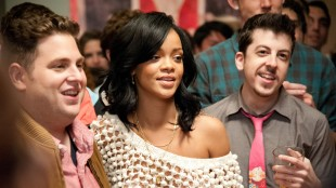 Jonah Hill, Rihanna og Christopher Mintz-Plasse er blant partygjestene i This Is The End (Foto: United International Pictures).