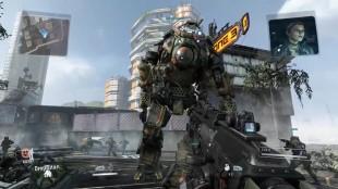 De store robotene forskyver ikke balansen i spillet, men bidrar til å øke spenningsnivået uten å ødelegge balansen mellom lagene. Skjermbilde fra «Titanfall». (Foto: Respawn Entertainment / EA)