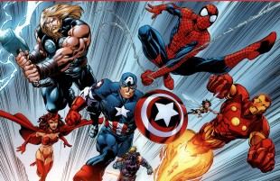I teikneseriene kjemper Spider-Man side om side med Captain America og dei andre Avengers-heltane. (Foto: Marvel)