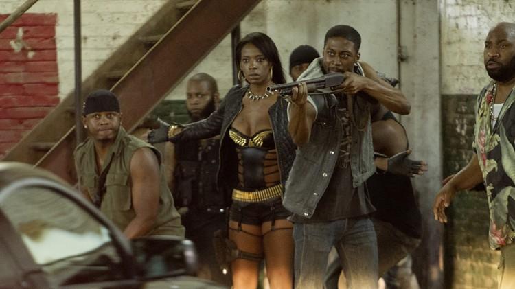 Ayisha Issa og RZA spiller skurker i Brick Mansions (Foto: Scanbox).