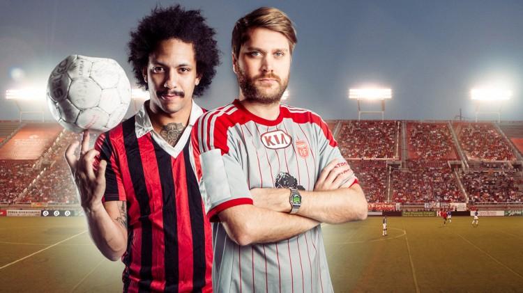 Venstre: Tete Lidbom. Høyre: Sven Bisgaard Sundet. Tilsammen: Heia Fotball. (Foto: NRK)