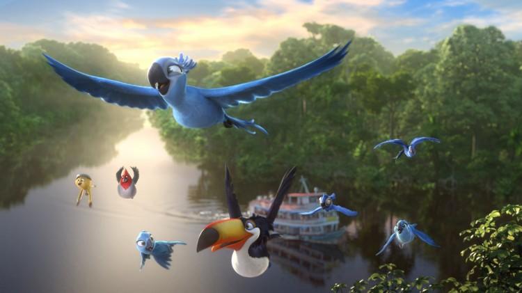 Blu og co flyr til Amazonas-jungelen i Rio 2 (Foto: Twentieth Century Fox Norway).