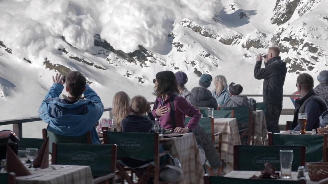Snøskredet kommer i «Turist» (Foto: Arthaus).